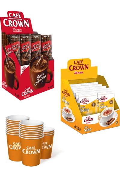 Cafe Crown Hediyeli Kış Paketi Sahlep & Sıcak Çikolata - Bardak Hediyeli