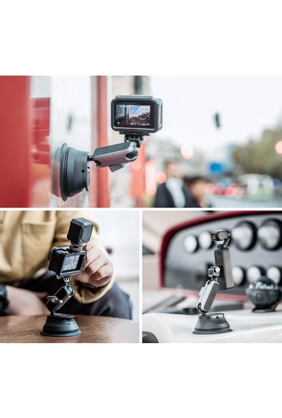 Pgytech Action Camera Suction Cup - Gopro - Osmo Action - Osmo Pocket Vantuz