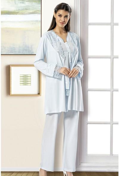 X-Ses Pijama Takımı, 3'lü Takım, Lohusa Pijama Takımı, 2190
