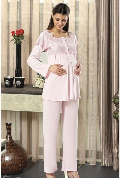 X-Ses Pijama Takımı, 3'lü Takım, Lohusa Pijama Takımı, 2195