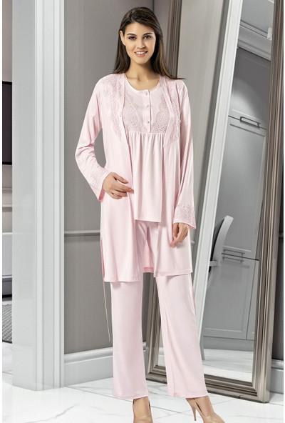 X-Ses Pijama Takımı, 3'lü Takım, Lohusa Pijama Takımı, 4001