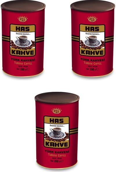 Has Kahve Türk Kahvesi 250 gr x 3 Lü