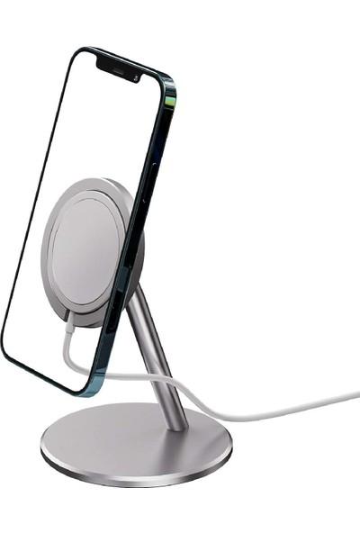 Case 4U Magsafe Charger - Apple iPhone Manyetik Şarj Standı