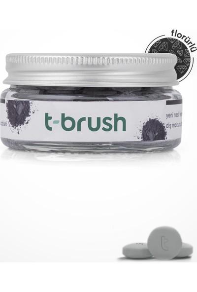 T-Brush Activated Charcoal Diş Macunu Tableti-Florürlü