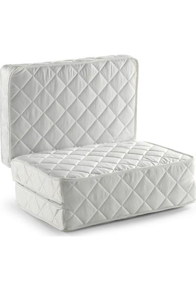 Adoze Home Tek Kişilik Katlanır Yaylı Yatak 90 x 190 cm Beyaz