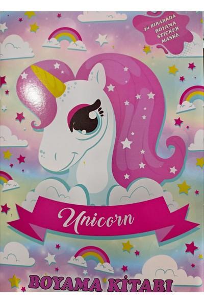 Unicorn Boyama Kitabı Maske ve Stickerlı