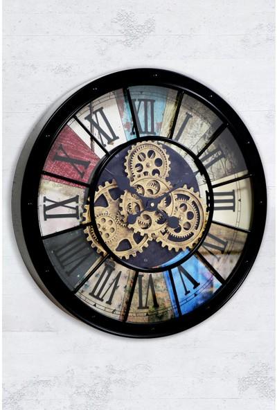 Time Gold Çarklı Duvar Saati
