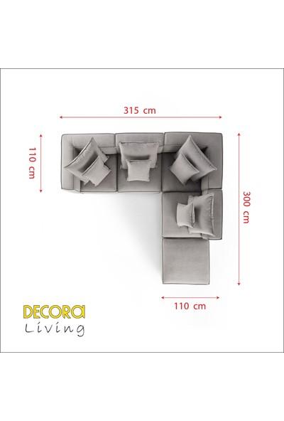 Decora Hera Modüler Rahat Köşe Koltuk Takımı 5 Parça