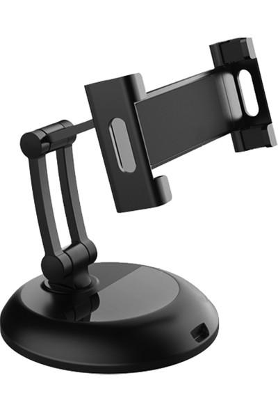 CoverZone Folding Multi-Angle Ayarlanabilir Tutucu Max 10,2inch Masaüstü Tablet Telefon Standı Siyah