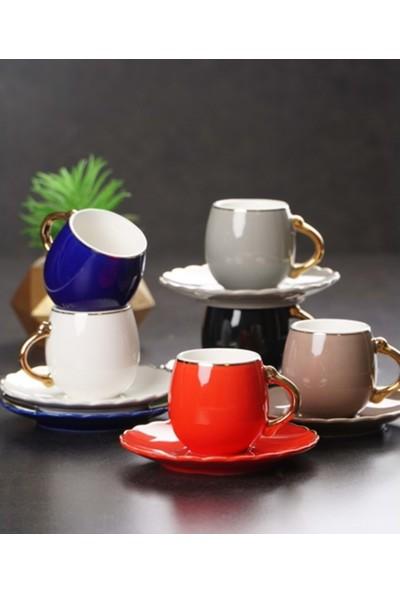 Acar Porselen 6'lı Kahve Fincan Takımı 180 ml. KAI011256