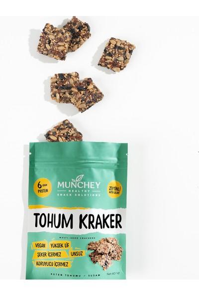 Munchey 2'li Zeytinli Tohum Kraker 80 gr