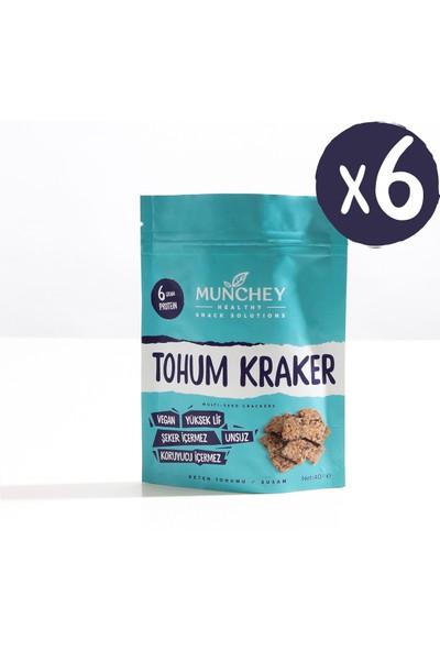 Munchey 6'lı Sade Tohum Kraker 240 gr
