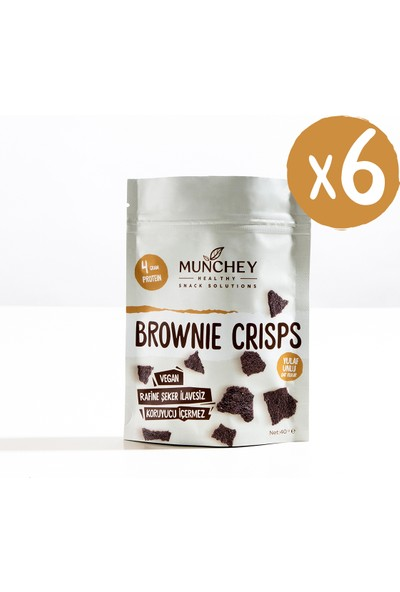 Munchey 6'lı Brownie Crisps 240 gr