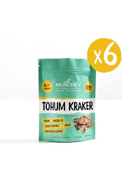 Munchey 6'lı Zeytinli Tohum Kraker 240 gr