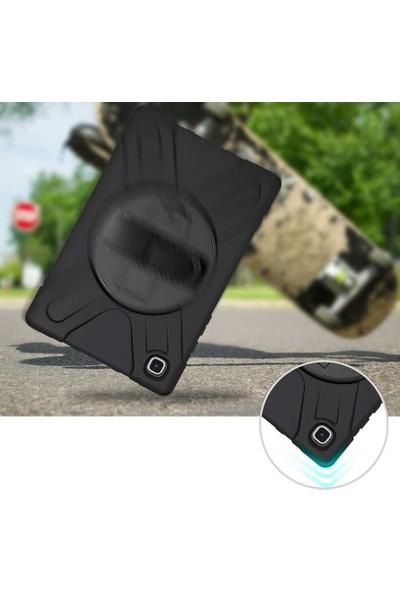 Case Street Samsung Galaxy Tab A7 10.4 T500 2020 Kılıf Defender Tablet Tank Koruma Standlı Siyah