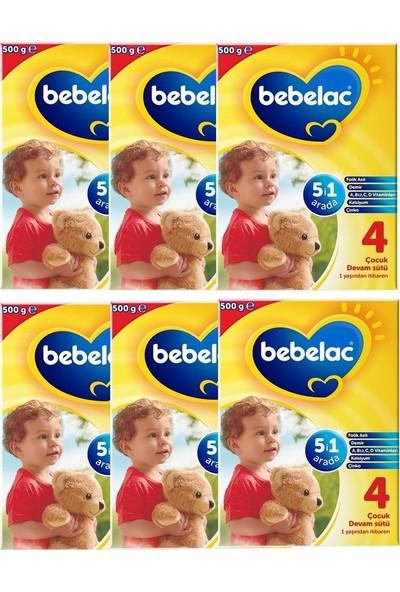 Bebelac 4 Çocuk Devam Sütü 6X500 gr