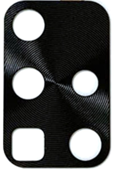 Case Street Samsung Galaxy A71 Kamera Lens Koruyucu Metal Siyah