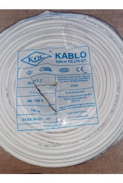Koç Kablo 3x1,5 Ttr 100 Metre Kablo Tam Bakır Çok Telli