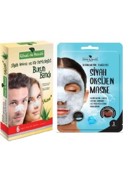 Rituel De Beaute Rdb Siyah Nokta ve Kir Temizleyici Burun Bandı + Oksijen Maskesi 2'li Özel Set