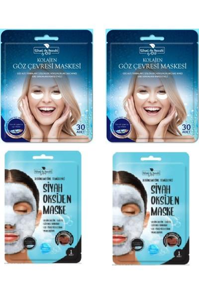 Rituel De Beaute Yüz Siyah Oksijen Maskesi + Göz Cevresi 2'li Set