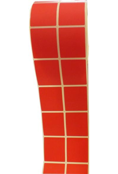 Erpos 40X46 Termal Ikili Etiket Kırmızı