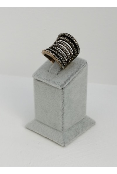 D'amour Özel Tasarım Özel Işçilik Hematit Taş Bronz Yüzük