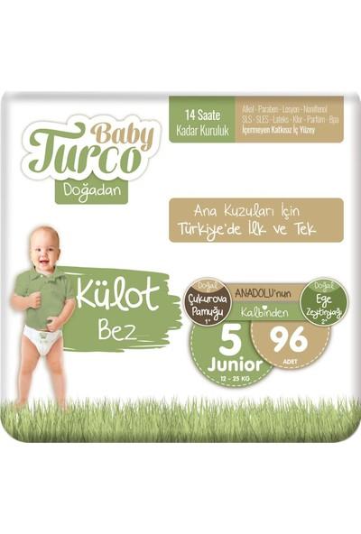 Baby Turco Doğadan Külot Bez 5 Numara Junior 96'lı
