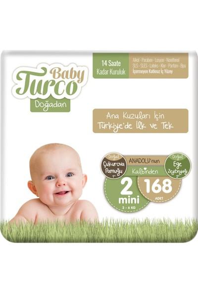 Baby Turco Doğadan 2 Numara Mini 168'LI