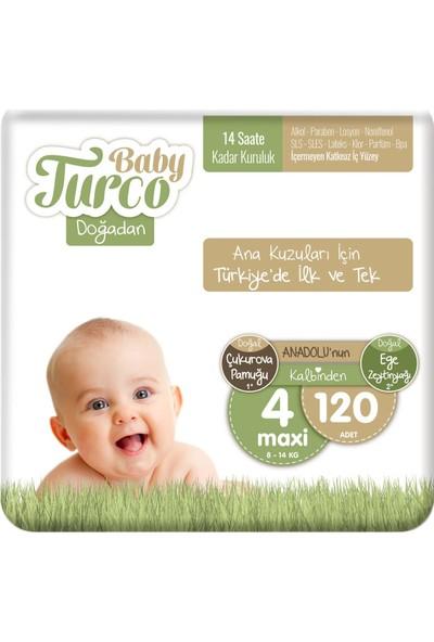 Baby Turco Doğadan 4 Numara Maxi 120'LI