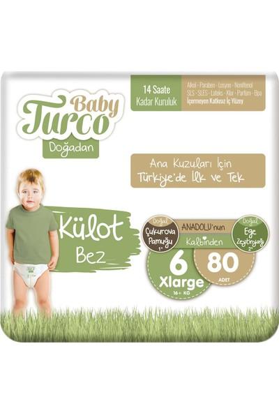 Baby Turco Doğadan Külot Bez 6 Numara Xlarge 80'lı