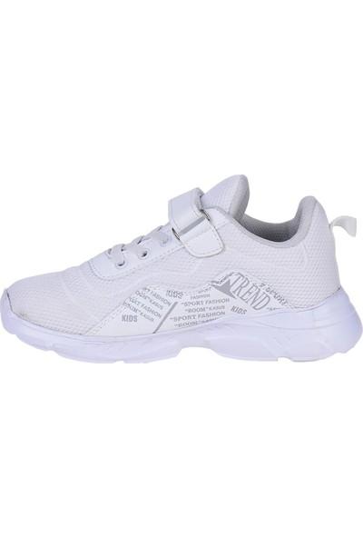 M.P 211-3215 Beyaz Cırtlı Günlük Kız Çocuk Spor Ayakkabı
