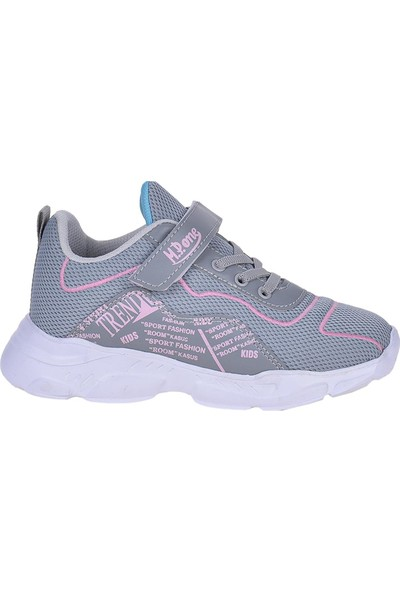 M.P 211-3215 Gri Cırtlı Günlük Kız Çocuk Spor Ayakkabı