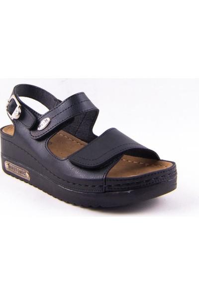 Neon 3014 Siyah Günlük Kadın Sandalet