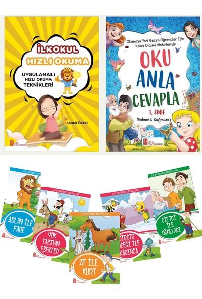1.sınıf Hızlı Okuma + Oku Anla Cevapla + Rengarenk 5'li Hikaye Seti