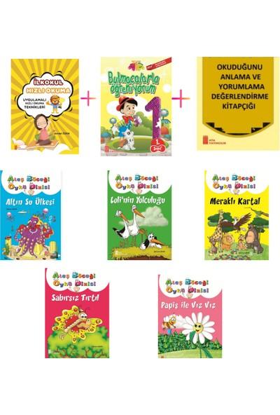 1. Sınıf Hızlı Okuma Kitabı+Bulmacalarla Öğreniyorum + 1. Sınıf 5'li Hikaye Kitabı Seti