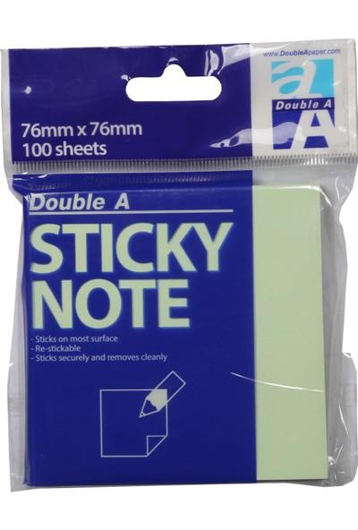 Double A Yapışkanlı Not Kağıdı Açık Yeşil