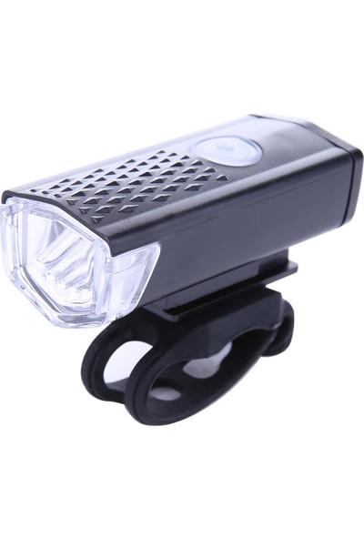 Bisiklet Ön Far LED Lamba USB Şarjlı Işık Fener