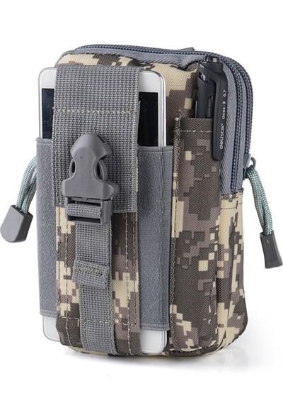 Protector Plus Fonksiyonel Bel Çantası Kemer Klipsli Gri Kamuflaj