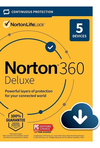 Norton 360 Deluxe 2021 5 Kullanıcı 1 Yıl