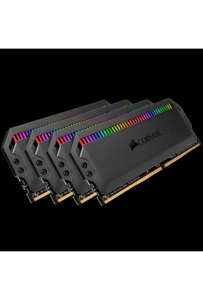 Corsair CMT32GX4M4C3600C18 32GB (4x8GB) DDR4 3600MHz CL18 DOMINATOR Platinum RGB Soğutuculu Siyah DIMM Bellek