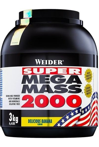Weider Mega Mass 2000 3000 Gr Muz (Orijinal Distribütör Bandrollü)