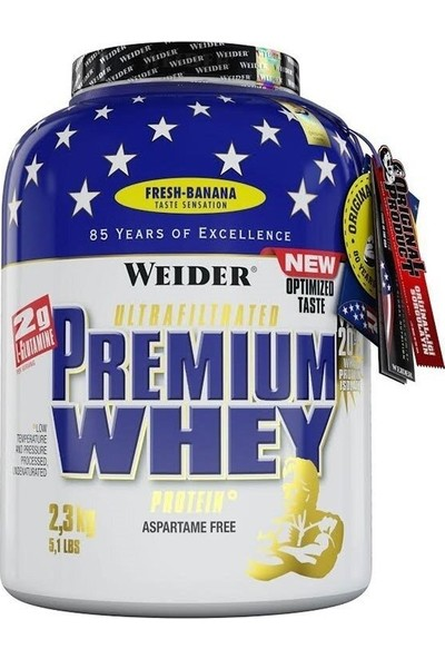 Weider Premium Whey Protein Tozu 2300 Gr Muz (Orijinal Distribütör Bandrollü)