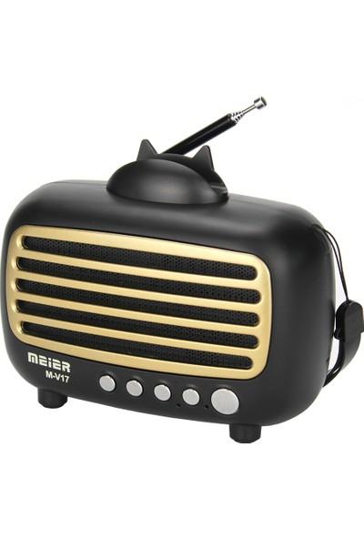 Meier M-V17BT Mini Boy Bluetooth Alarm Saatli Radyo