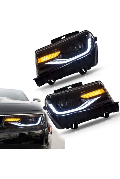 Chevrolet Camaro 5.5 Için Yeni Görünüm Ledli Far Seti 2014 2015