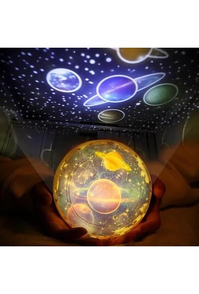 Orijinaldükkan Diamond Projektör Gece Lambası Değişebilen 5 Farklı Model Dönen Aydınlatma