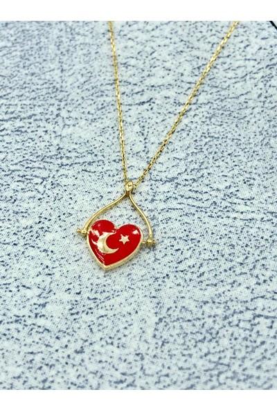 Tekin Gold Türk Bayrağı Kolye
