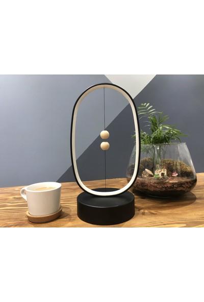 Moda Berna Oval LED Manyetik USB Girişli Masa Lambası