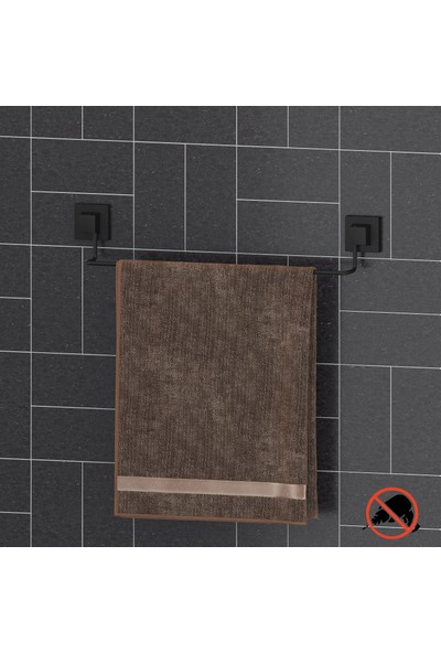 Teknotel Easyfıx Yapışkanlı Uzun Havluluk Mat Siyah EF260