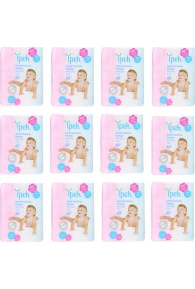 İpek Maxi Bebek Temizleme Pamuğu 12'li Paket