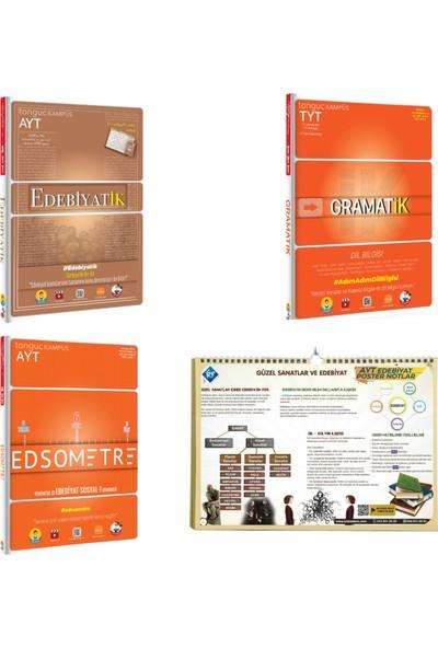 Tonguç Akademi TYT Gramatik- AYT Edebiyatik- AYT Edsometre- Kr Akademi AYT Edebiyat Poster Notlar 3 Kitap